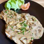 plats-escalope-de-dinde-sauce-creme-champignons